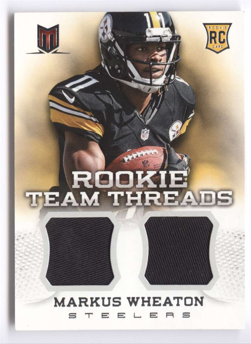 2013 Panini Momentum Rookie Team Threads Combo Materials Markus Wheaton #14 card front image