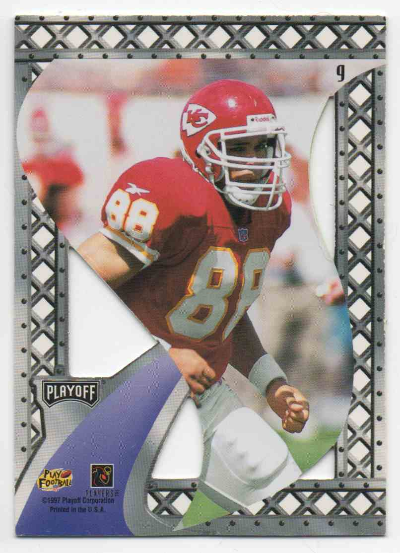 1997 Playoff Contenders Rookie Wave Pennants Tony Gonzalez #9 card back image