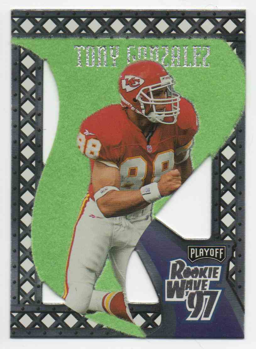 1997 Playoff Contenders Rookie Wave Pennants Tony Gonzalez #9 card front image
