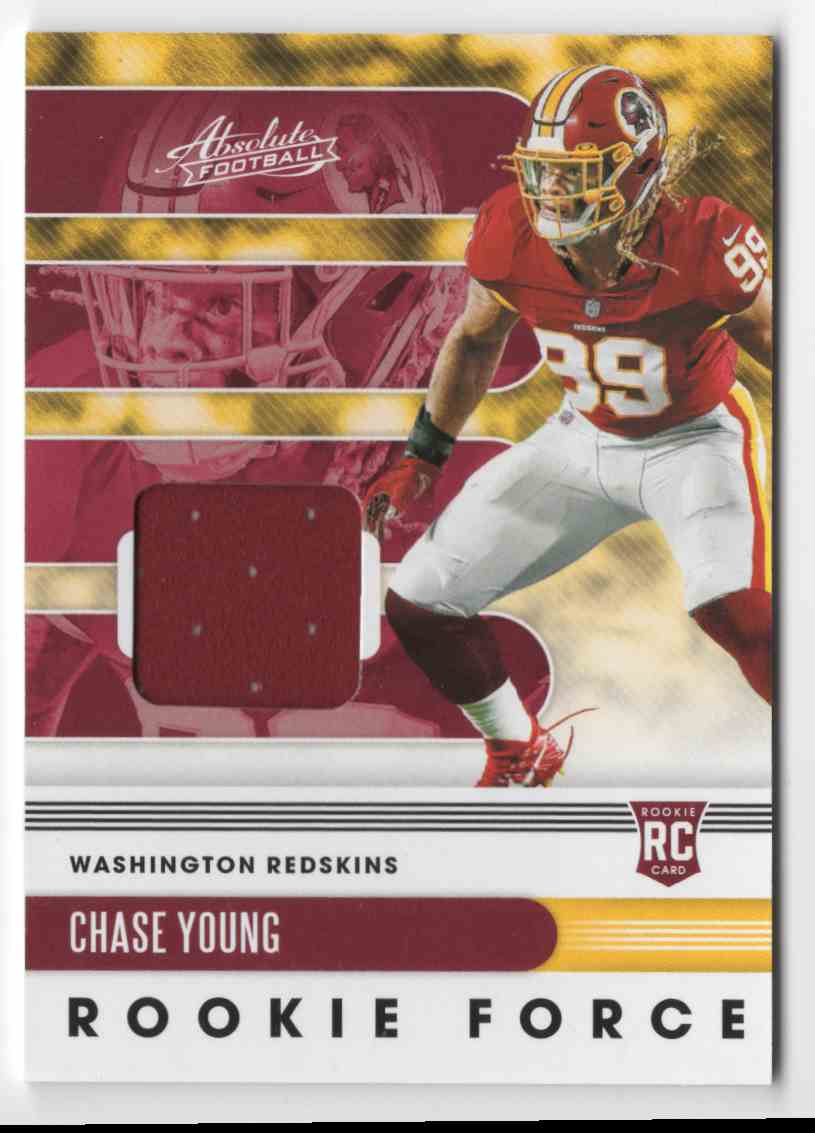 2020 Absolute Rookie Force Jerseys Chase Young #16 card front image