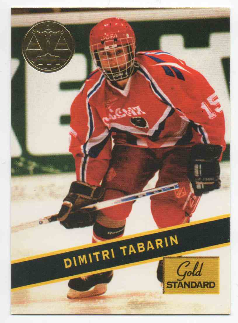 1994-95 Signature Rookies Gold Standard Dimitri Tabarin #93 card front image