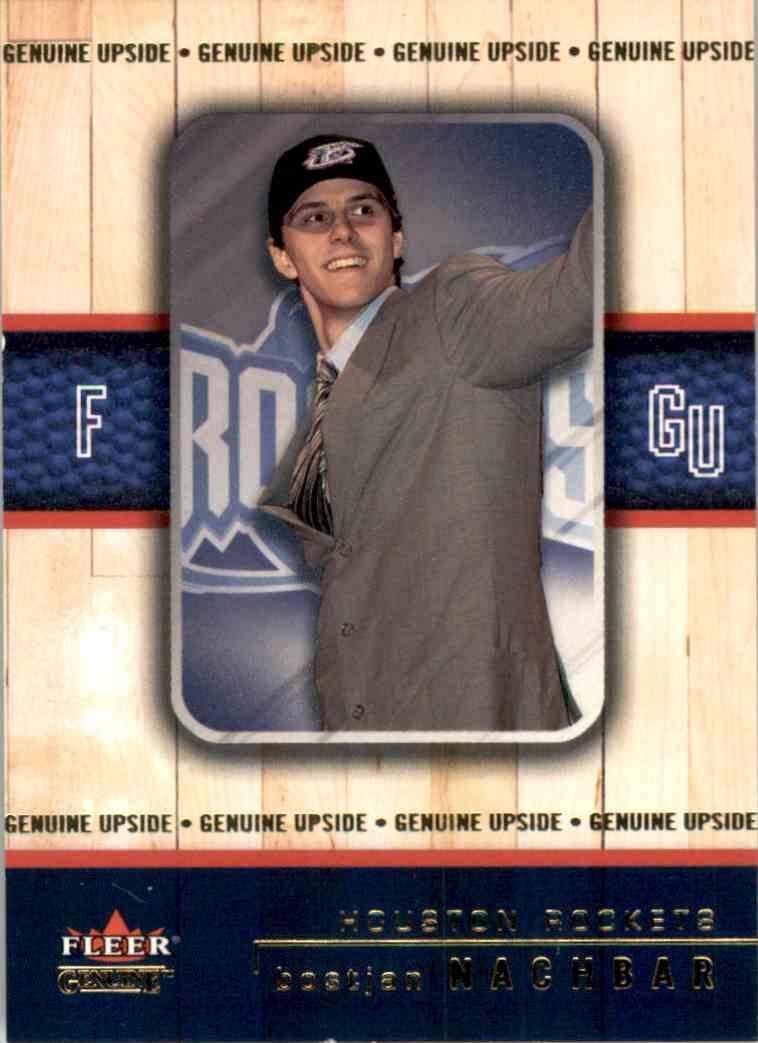 2002-03 Fleer Genuine Bostjan Nachbar RC #107 card front image