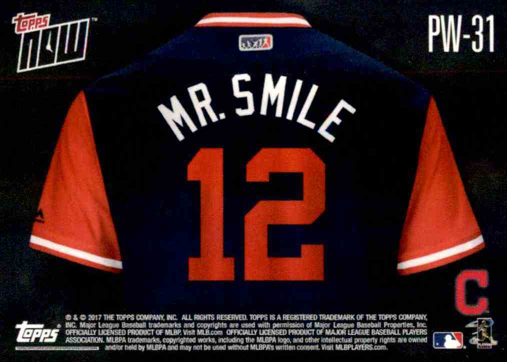 online store 680dc a13ab 2017 Topps Now Players Weekend MR. Smile - Francisco Lindor ...