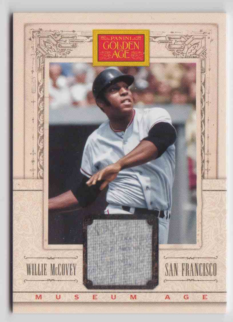 2013 Panini Golden Age Museum Age Memorabilia Willie McCovey #33 card front image
