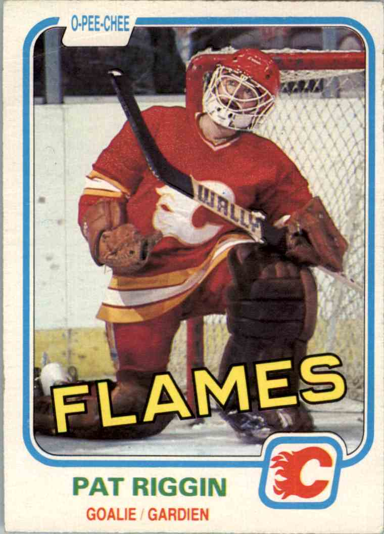 1981-82 O-Pee-Chee Pat Riggin #37 card front image