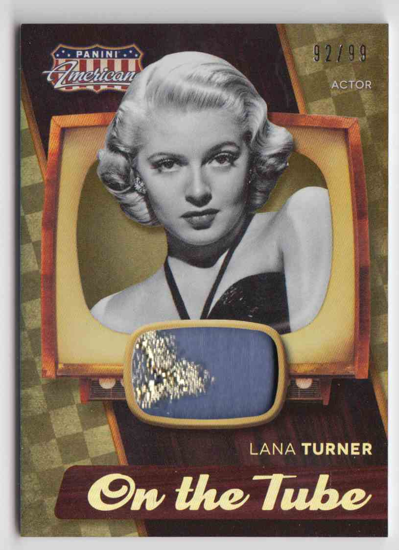 2015 Panini Americana On The Tube Vintage Materials Lana Turner #VM-LT card front image