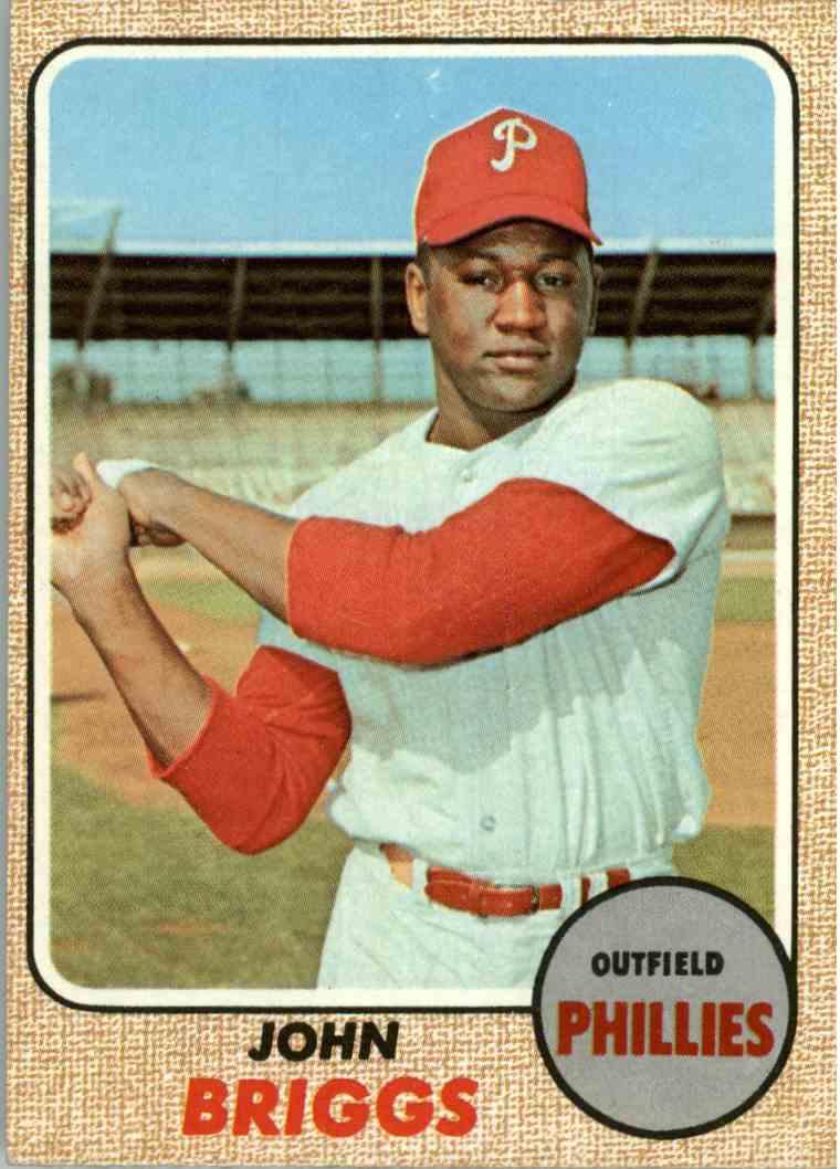 1968 Topps John Briggs #284 card front image