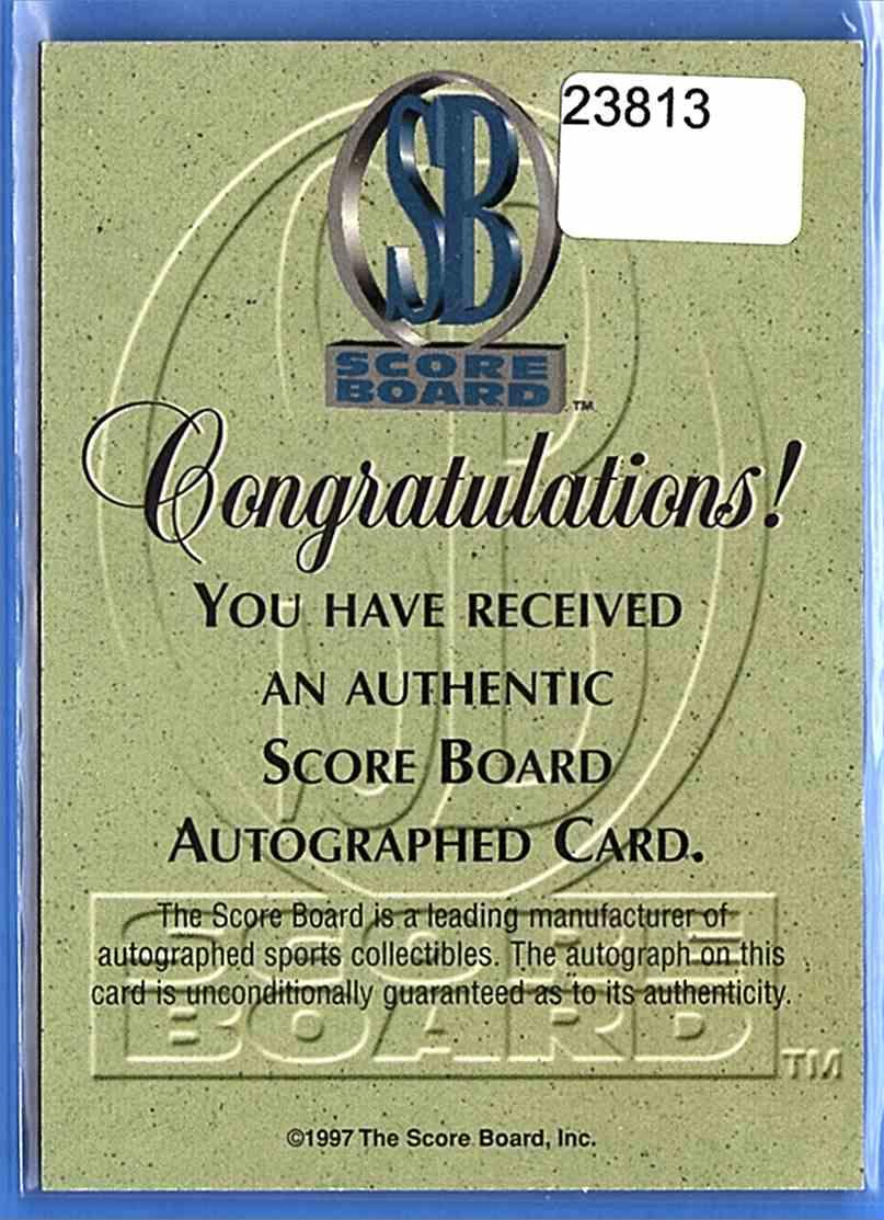 1997-98 Score Board Alexander Volchkov card back image