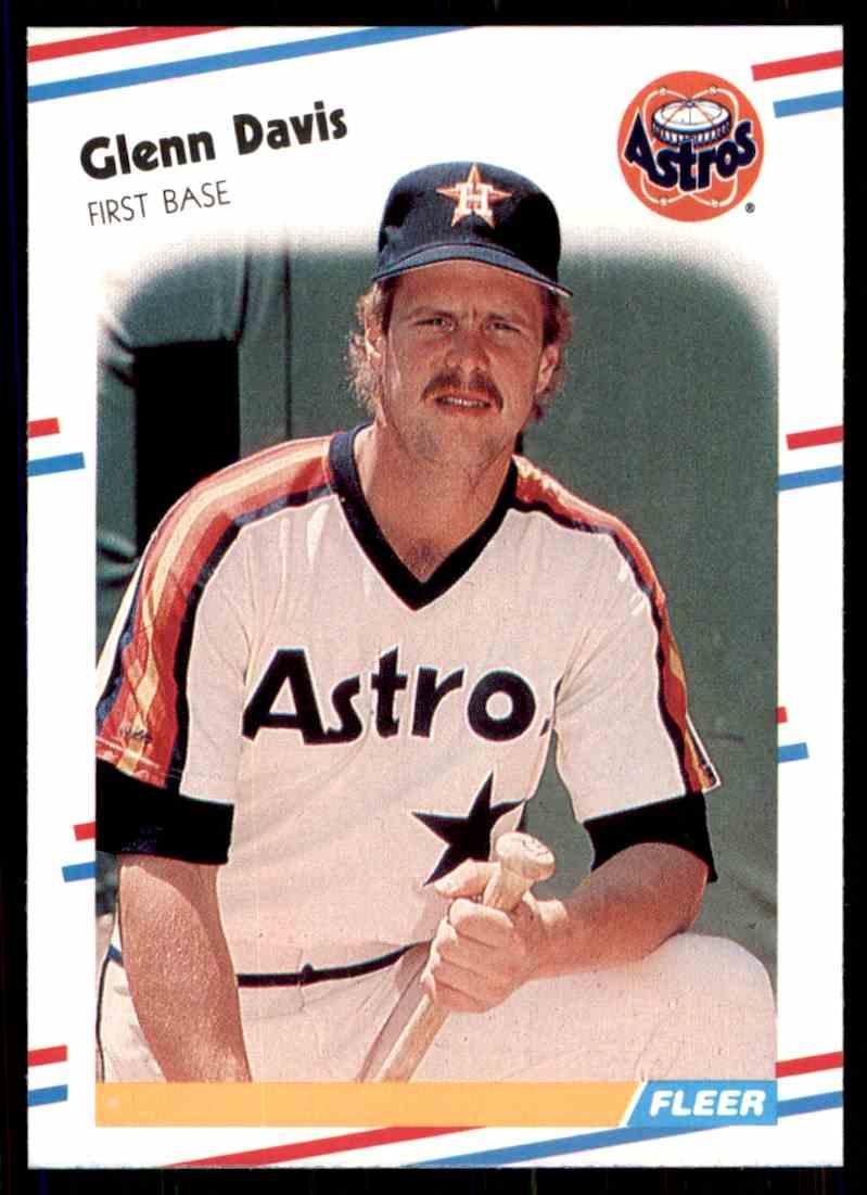 1988 Fleer Baseball Glenn Davis 445 On Kronozio