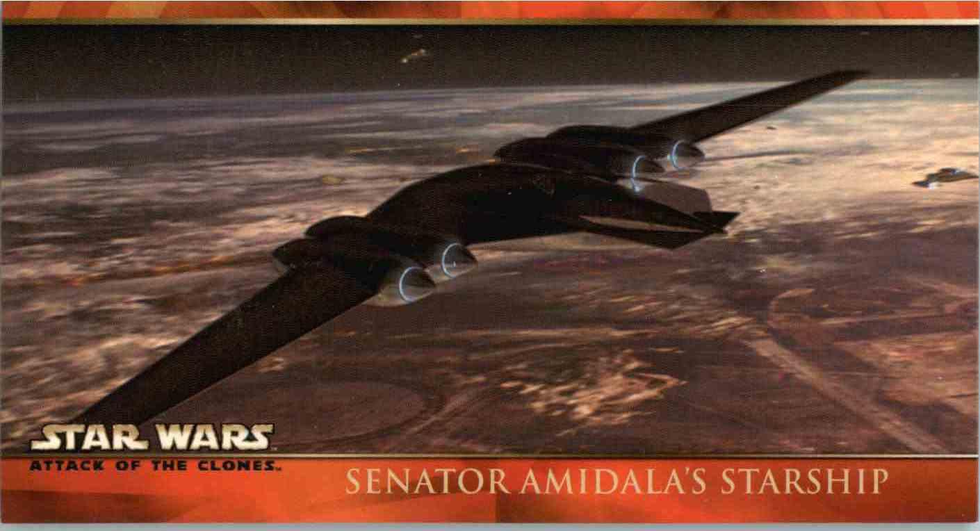 2002 Topps Star Wars Senator Amidala's Starship #1 card front image
