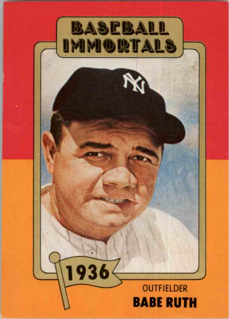 Details About 1980 Baseball Immortals 1st Printing Babe Ruth New York Yankees 1