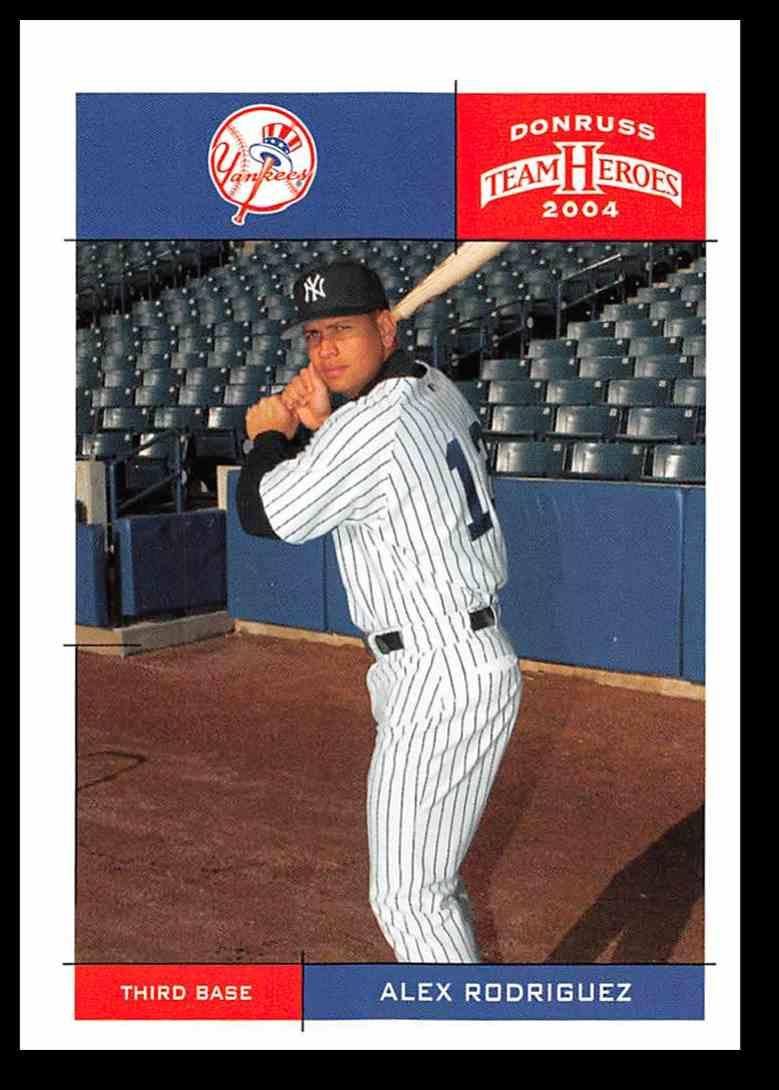 2004 Donruss Team Heroes Alex Rodriguez Baseball Card