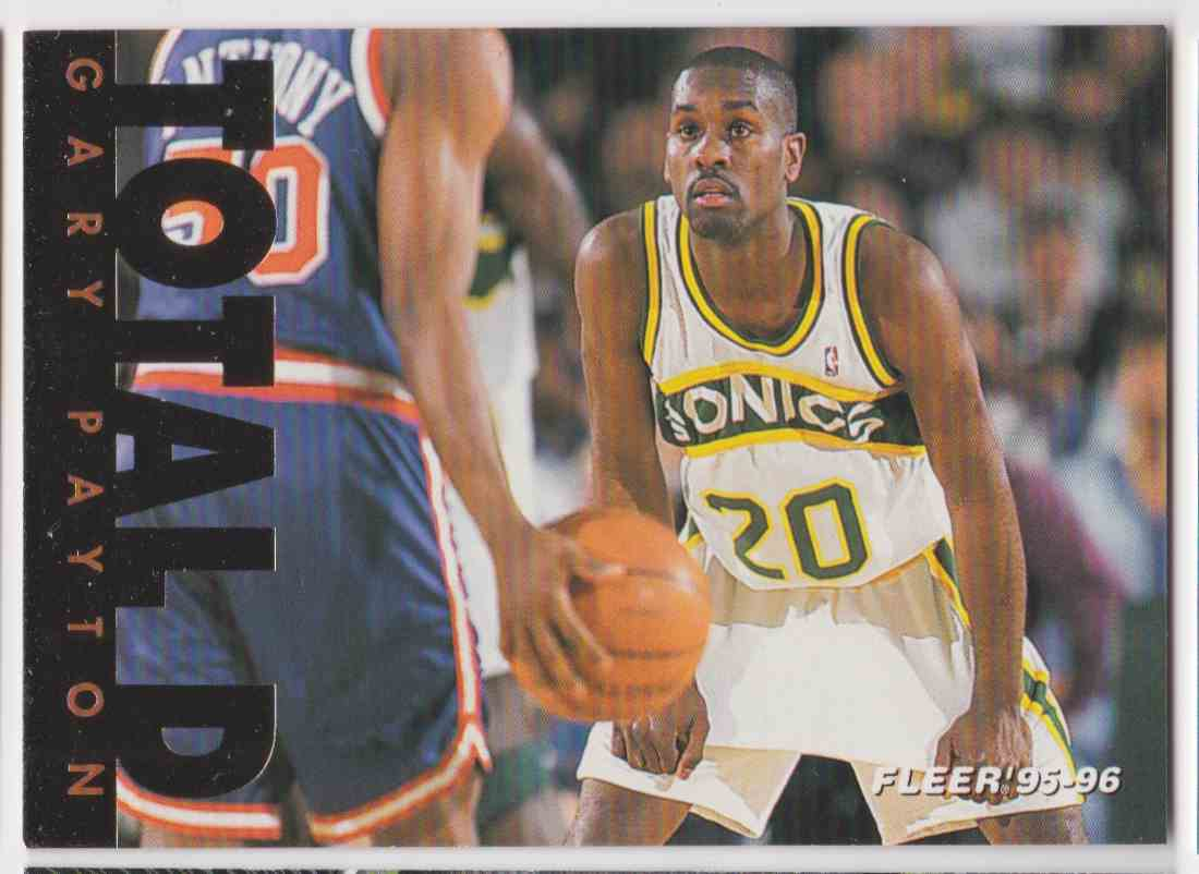 1995-96 Fleer Total D Gary Payton #8 OF 12 card front image