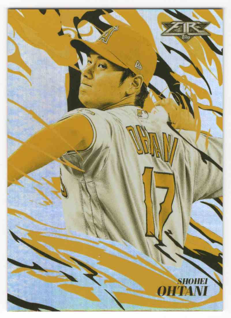 2019 Topps Fire Flame Throwers Gold Shohei Ohtani #FT1 card front image