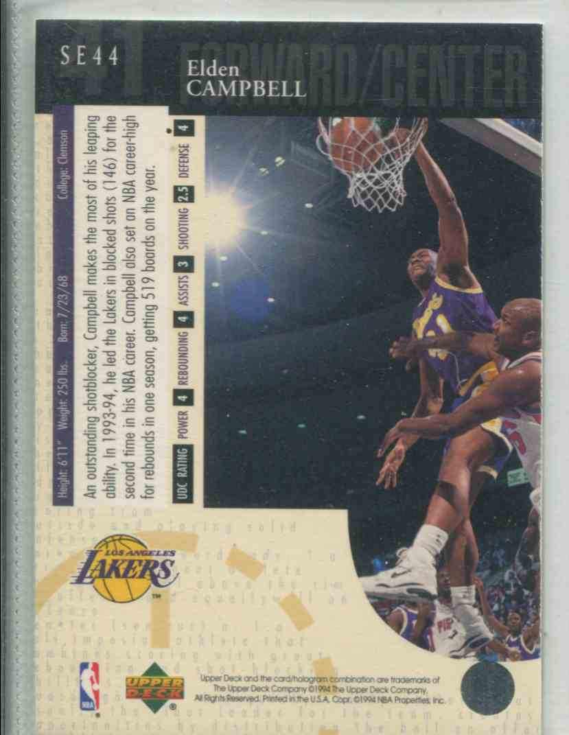 1994 95 Upper Deck Special Edition Elden Campbell SE44 on Kronozio