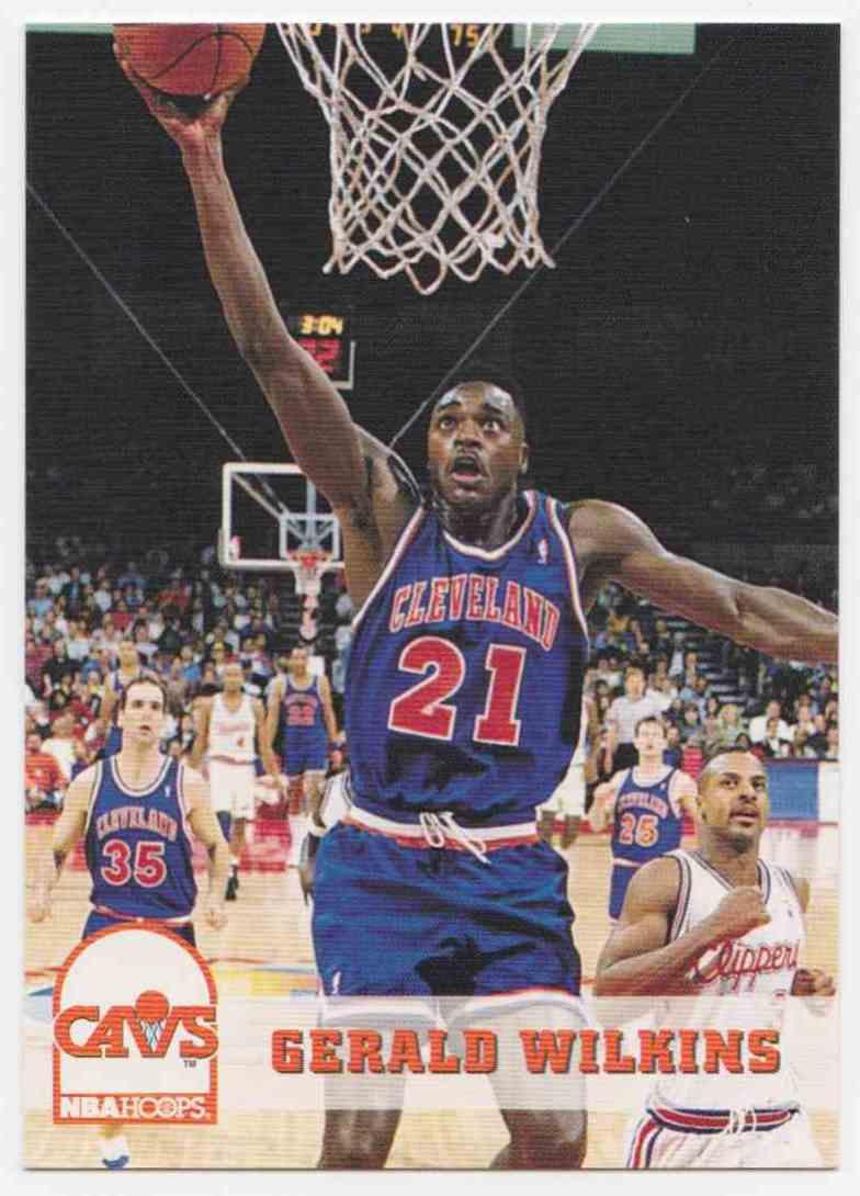 1993 94 NBA Hoops Base Gerald Wilkins 42 on Kronozio
