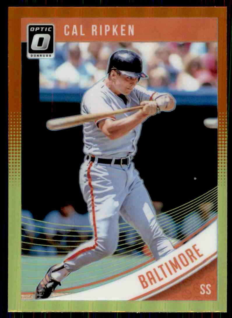 2018 Donruss Optic Red And Yellow Prizm Cal Ripken #71 card front image