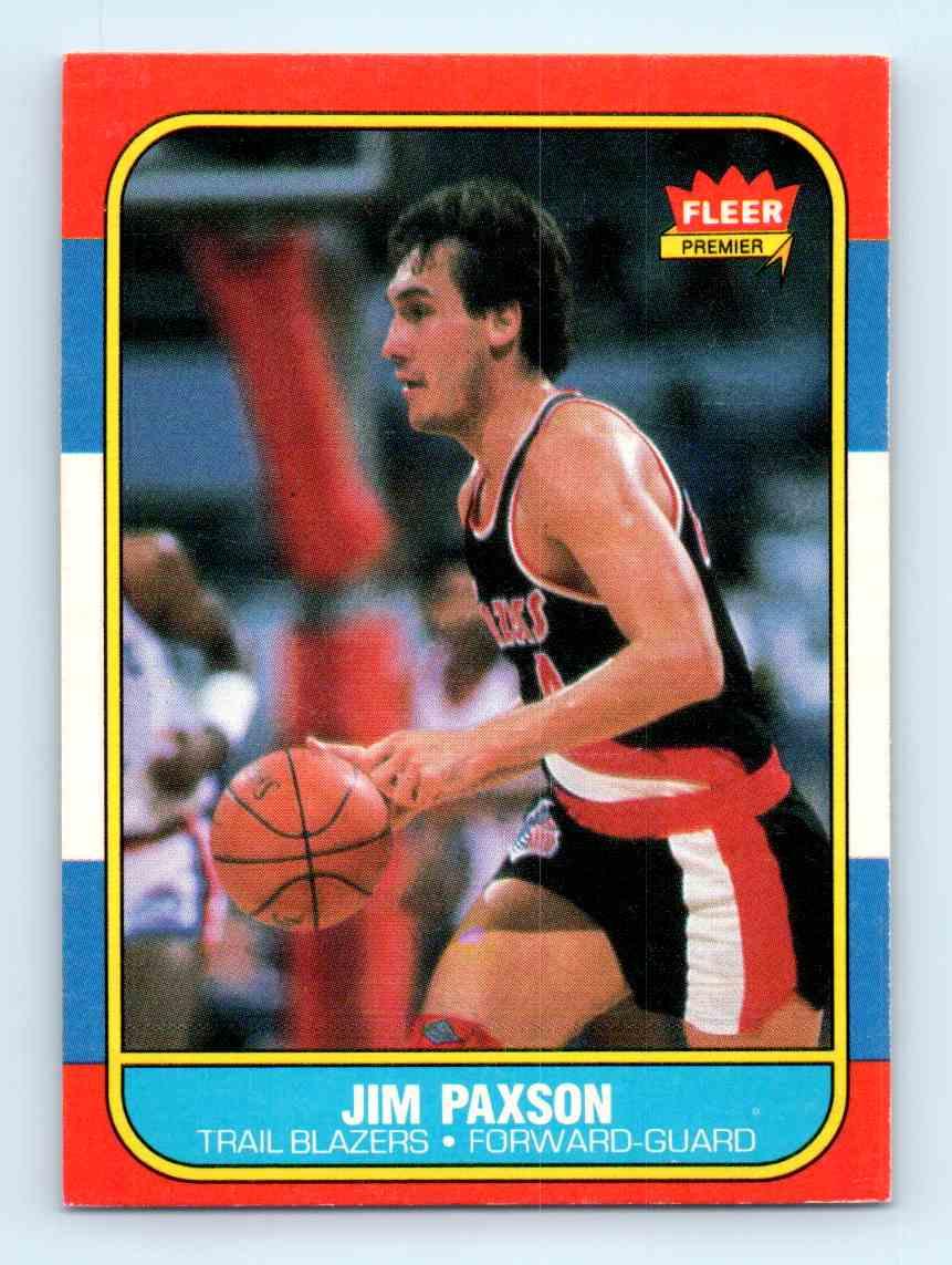 1986 87 Fleer Jim Paxson 85 on Kronozio