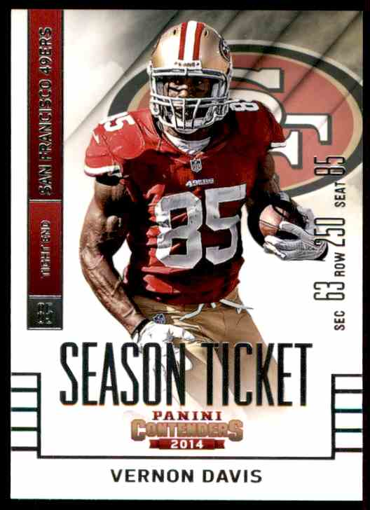 2014 Panini Contenders Vernon Davis #1 card front image