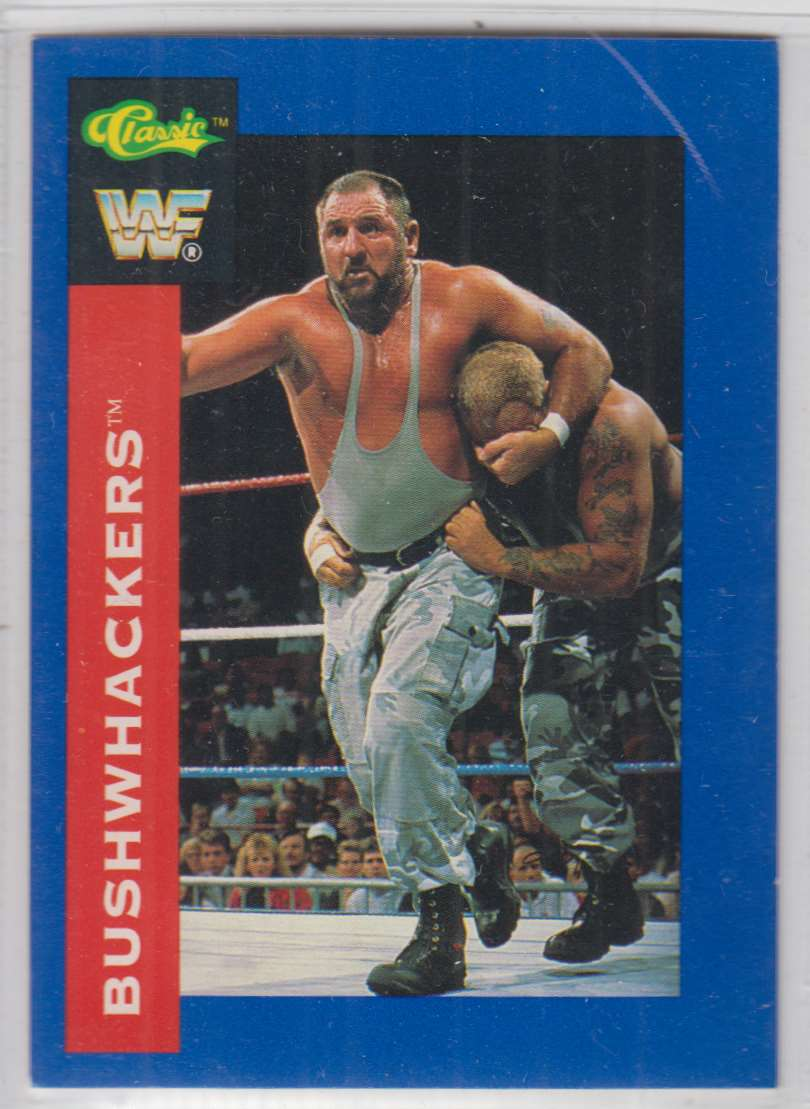 1991 Classic WWF Superstars The Bushwhackers #83 card front image