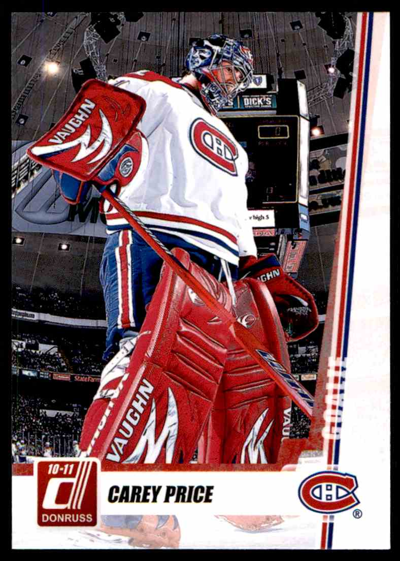 2010-11 Donruss Carey Price #72 card front image