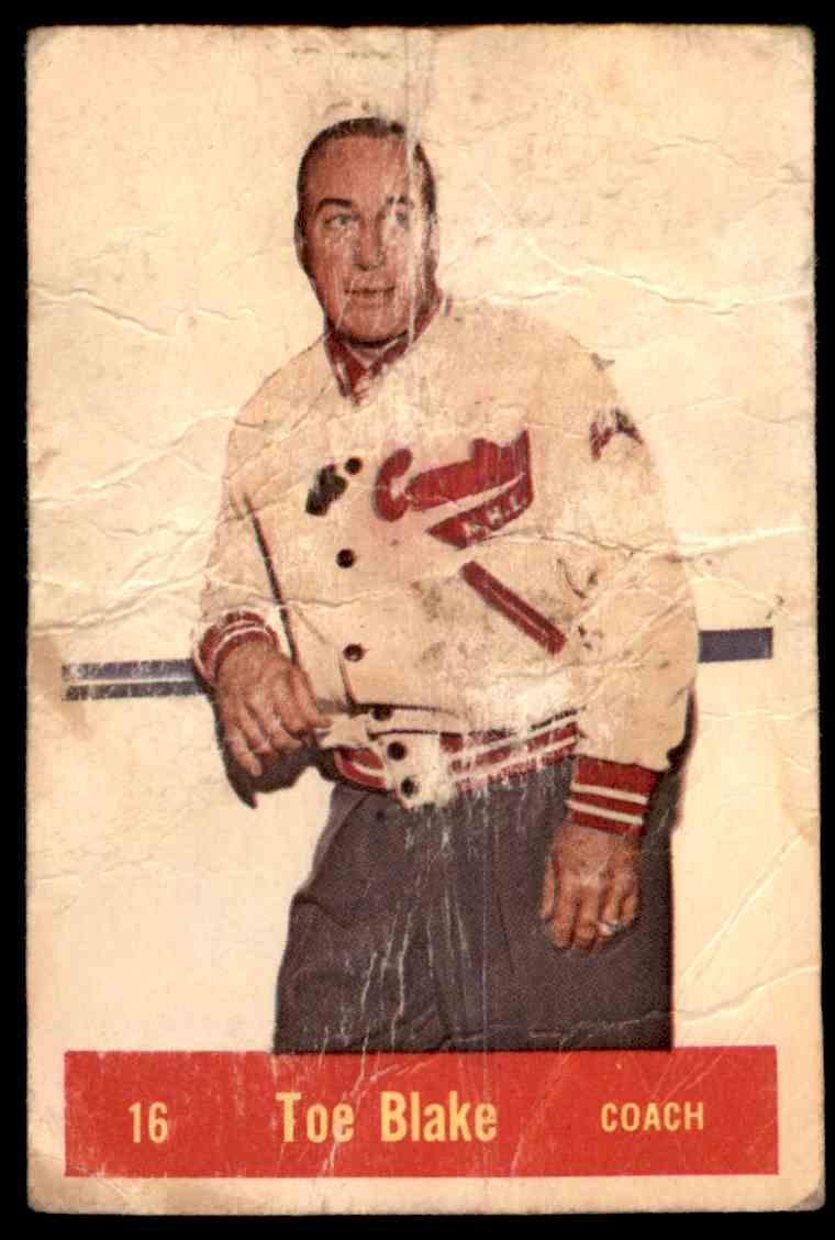 1957-58 Parkhurst Toe Blake #16 card front image