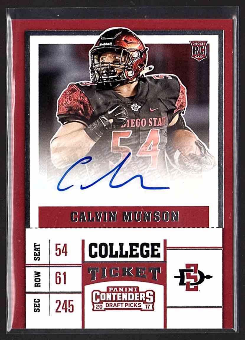 2017 Panini Contenders Draft Picks Calvin Munson #288 card front image