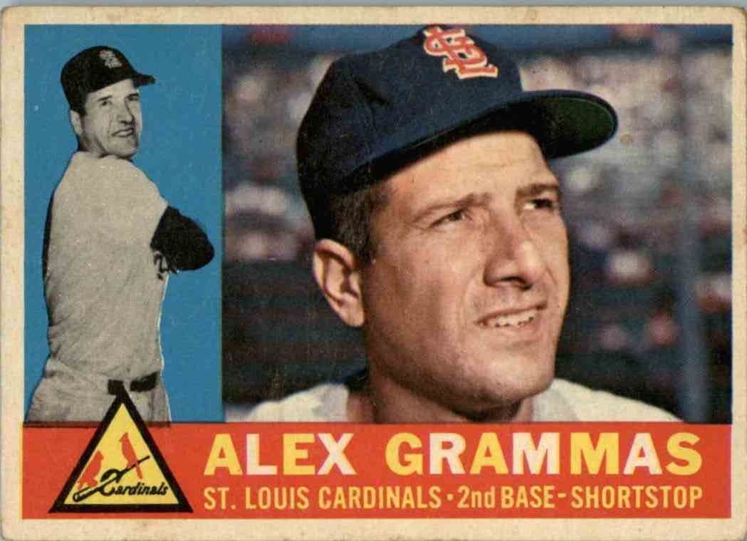 1960 Topps Alex Grammas #168 card front image