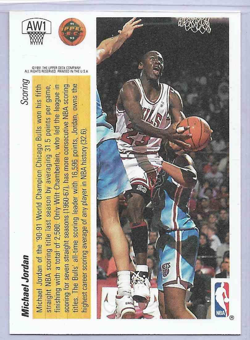 1992-93 Upper Deck Michael Jordan #AW1 card back image