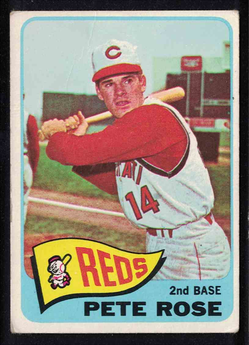 1965 Topps Pete Rose G-VG crease #207 card front image