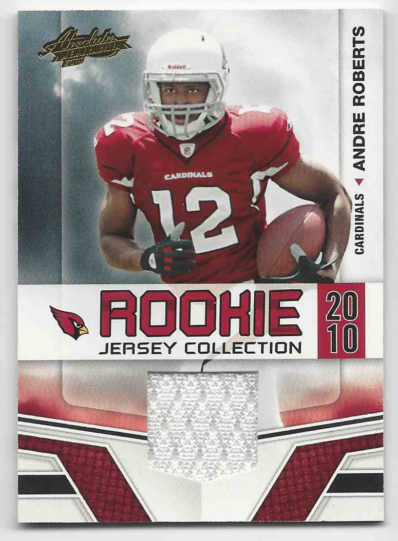 2010 Absolute Memorabilia Rookie Jersey Collection Andre Roberts #1 card front image
