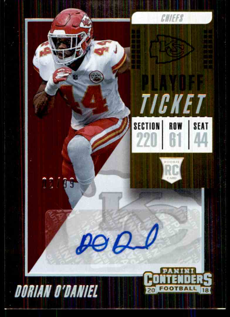 2018 Panini Contenders Playoff Ticket Dorian O'daniel #210 card front image
