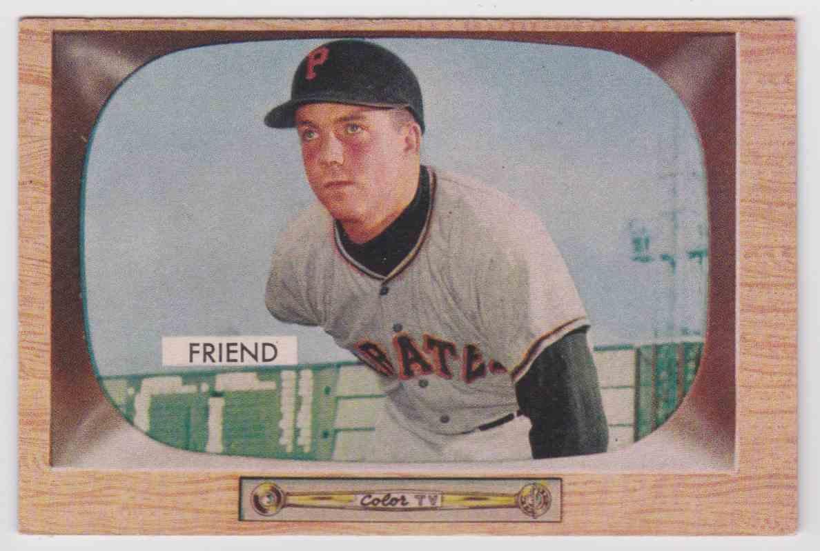 1955 Bowman Bob Friend 57 On Kronozio