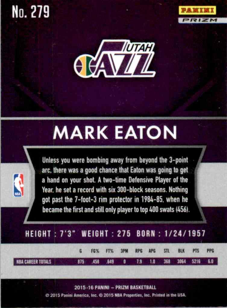 2015-16 Panini Prizm Mark Eaton #279 on Kronozio