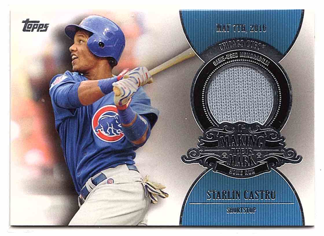 2013 Topps Making Their Mark Relics Starlin Castro #MMRSC card front image