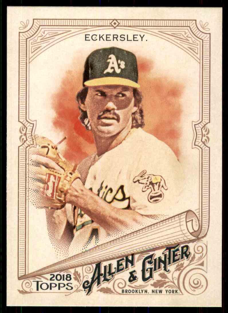 2018 Topps Allen & Ginter Dennis Eckersley #337 card front image