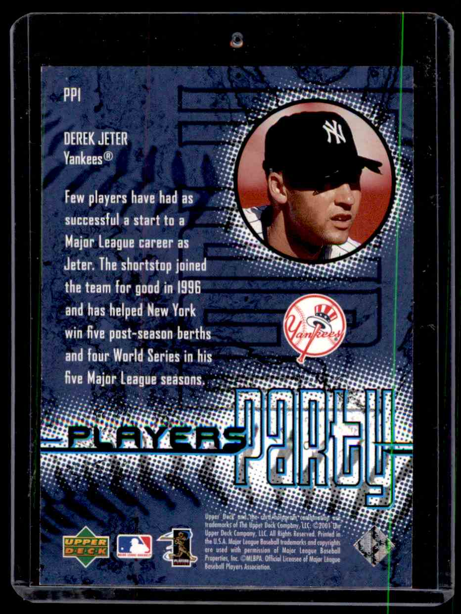 2001 Sweet Spot Players Party Derek Jeter #PP1 card back image