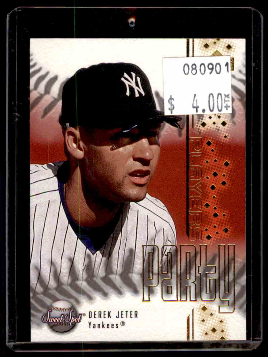 2001 Sweet Spot Players Party Derek Jeter #PP1 card front image