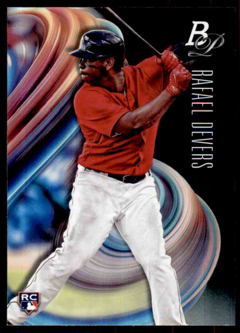 2018 Bowman Platinum Rafael Devers #2 card front image