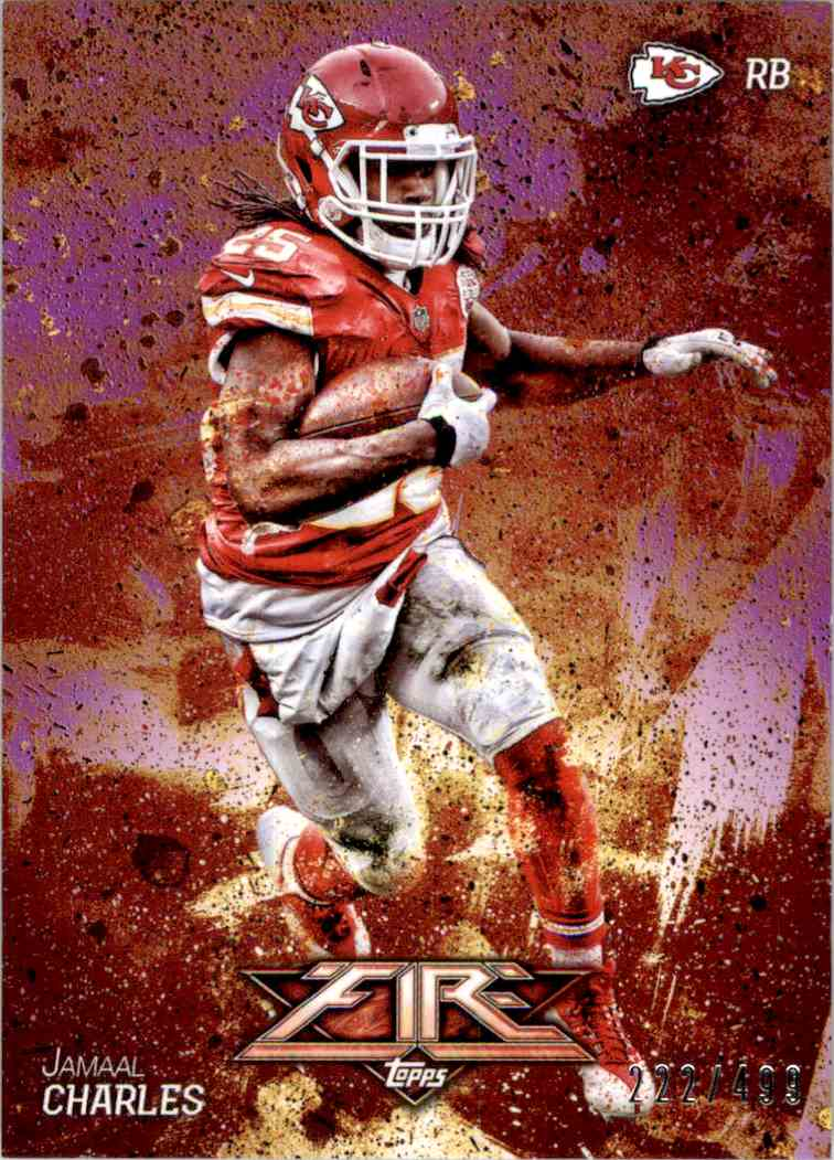 2014 Topps Fire Purple Jamaal Charles #99 card front image