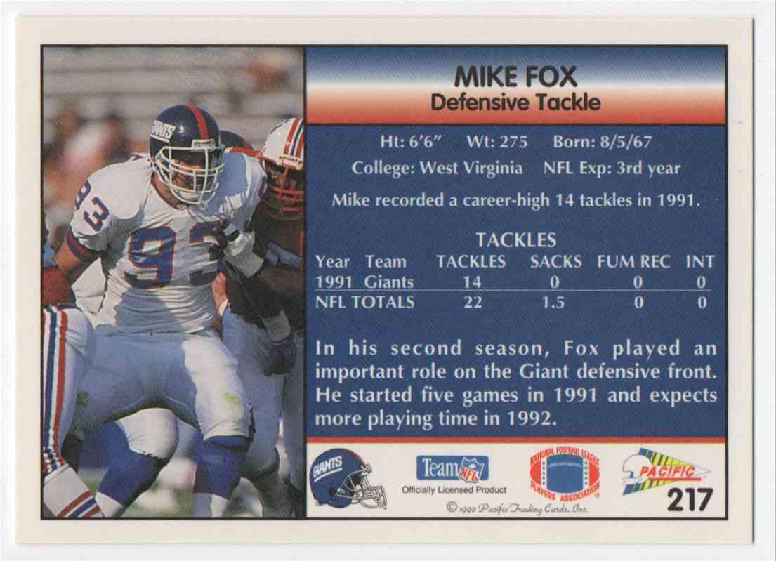 1992 pacific mike fox 217 on kronozio