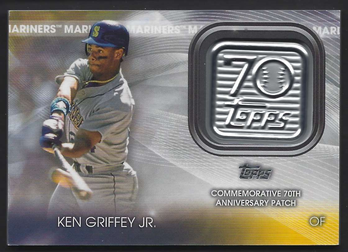 2021 Topps 70th Anniversary Logo Patch Ken Griffey JR. #70LP-KG card front image