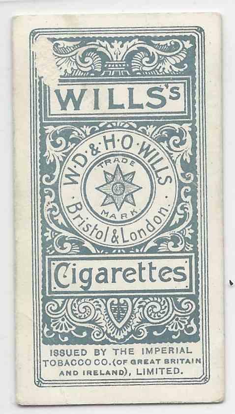 1901 Wills's Locomotives & Rolling Stock Paris -Reims Express #49 card back image