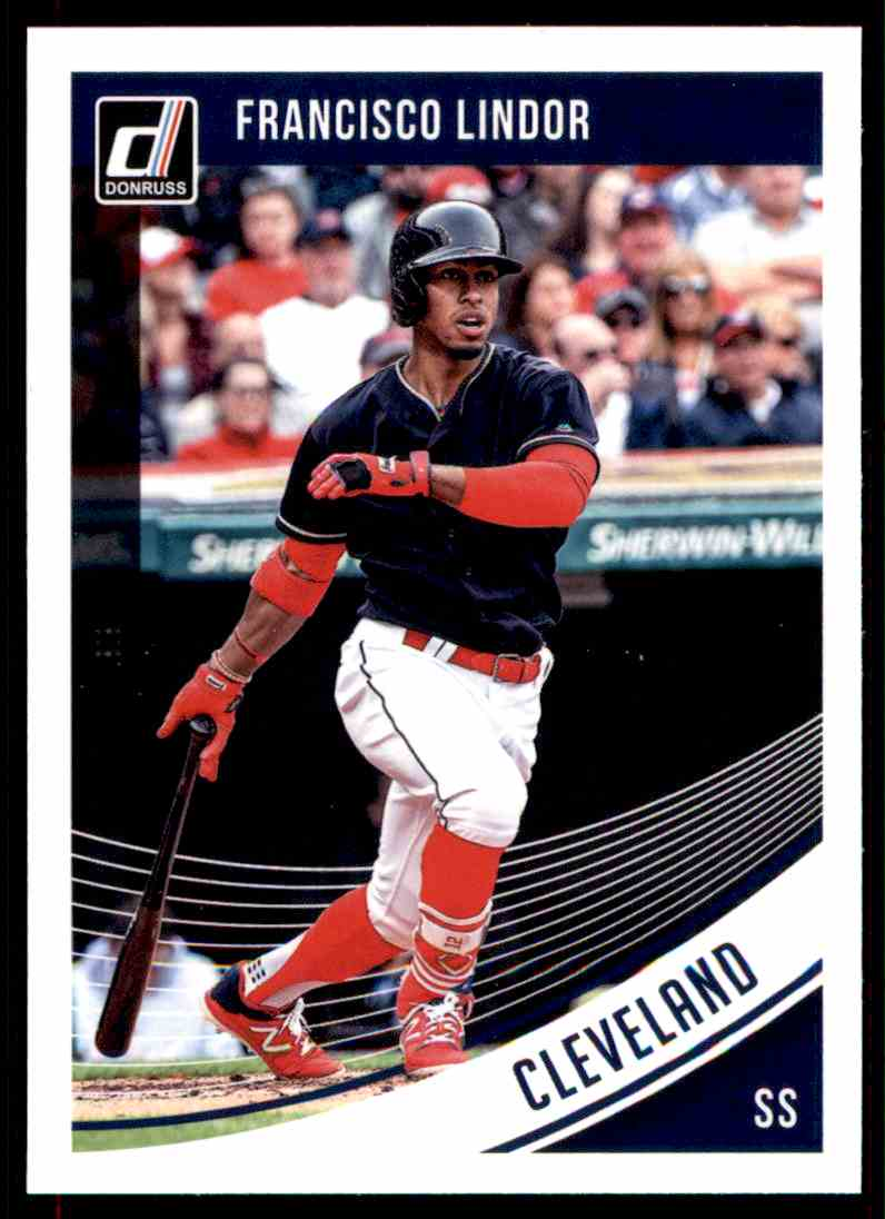 2018 Donruss Francisco Lindor Cleveland Indians 157 On Kronozio