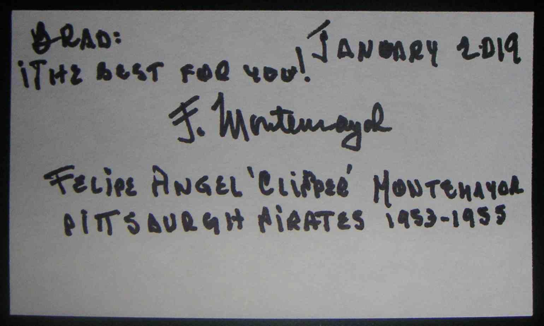 1954 3X5 Felipe Montemayor card back image