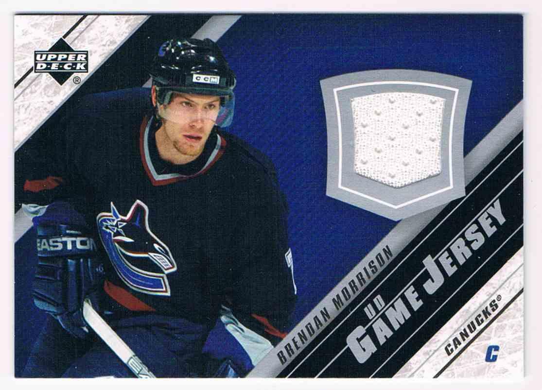 2005-06 Upper Deck UD Game Jersey Brendan Morrison #J2-BM card front image