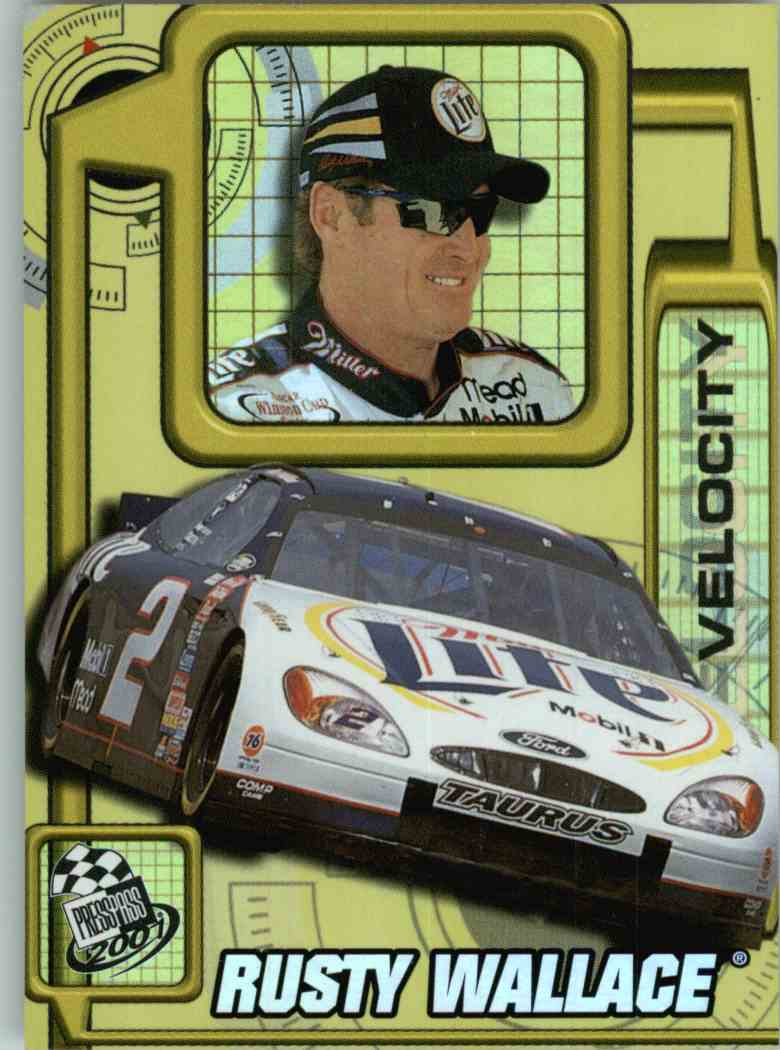 2001 Press Pass Rusty Wallace #VL2 card front image