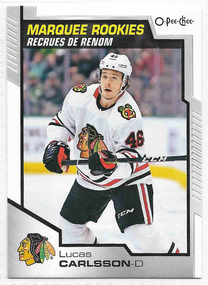 2021-22 Upper Deck O-Pee-Chee Lucas Carlsson #520 card front image