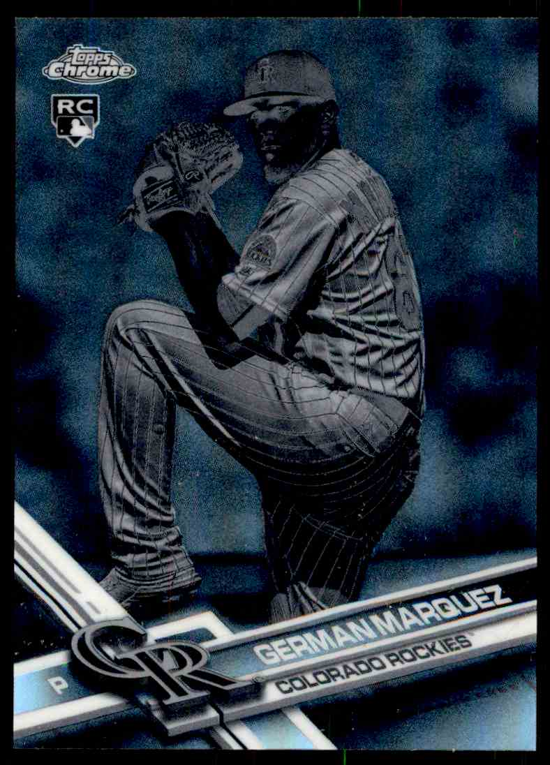 2017 Topps Chrome #42 German Marquez Colorado Rockies Rookie Baseball Card