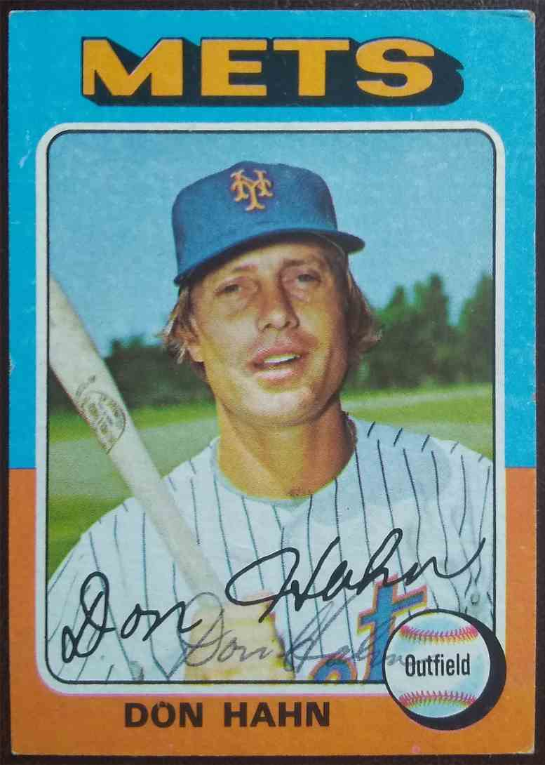1975 Topps Don Hahn #182 card front image